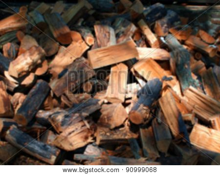 Defocused And Blur Image Of Firewood