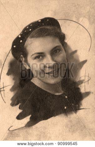 Portrait Beautiful Russian Girl
