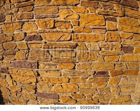 Decorative Wall With Wide Angle Fisheye View