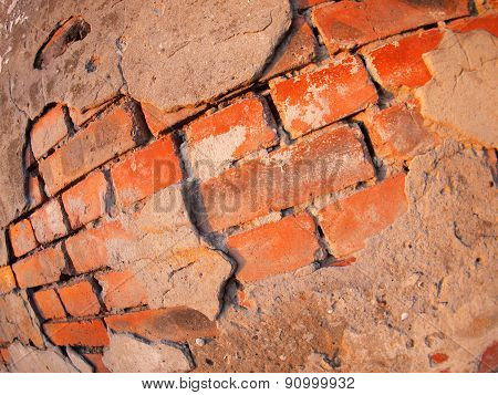 Fragment Of An Old Shabby Brick Wall