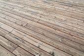 stock photo of lumber  - Wooden deck background lumber pattern - JPG