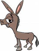 image of donkey  - Cartoon Illustration of Funny Baby Donkey Farm Animal - JPG