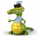 stock photo of crocodiles  - Fun crocodile - JPG