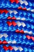 image of braids  - Background Texture Of The Blue Braided Rope - JPG
