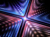 stock photo of quantum physics  - Quantum mechanics particle with wave attribution computer generated abstract fractal background - JPG