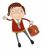 image of schoolboys  - student or schoolboy in glasses - JPG