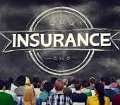 image of risk  - Insurance Benefits Protection Risk Security Service Concept - JPG