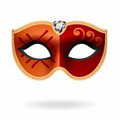 stock photo of mardi gras mask  - The vector illustration of a carnival mask - JPG