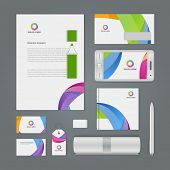 Abstract Logotype corporate identity template Mock up design elements. Vector illustration white Bus poster