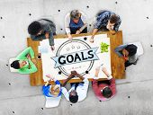 image of encouraging  - Goal Aspiration Expectation Encourage Dreams Concept - JPG