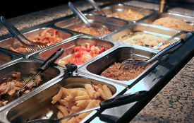 picture of takeaway  - Chinese takeaway restaurant with fried fish and other salty foods - JPG