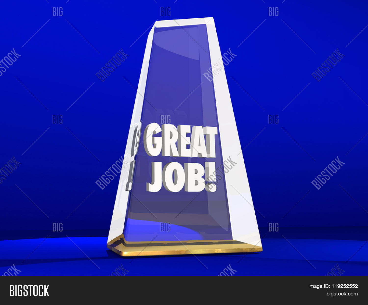 Great Job Good Performance Award Image & Photo | Bigstock