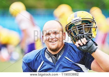American football player portrait