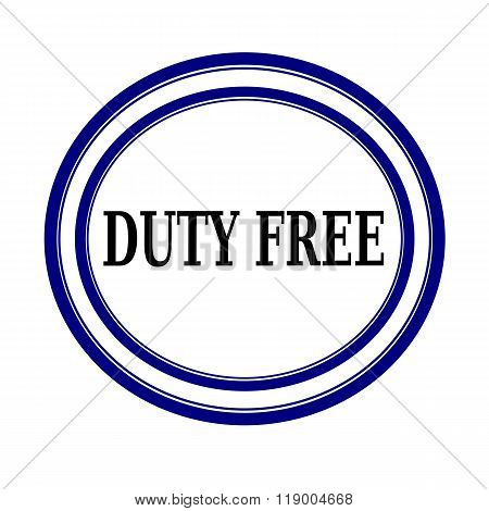 Duty Free Black Stamp Text On White