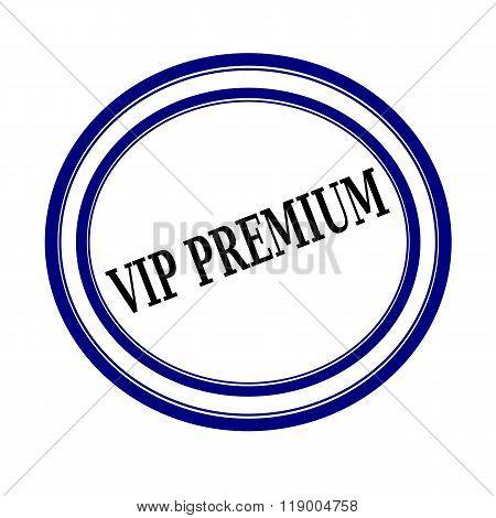 Vip Premium Black Stamp Text On White