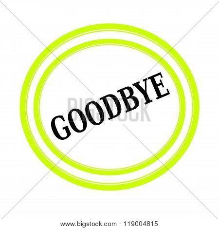 Goodbye Black Stamp Text On White