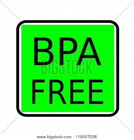 Bpa Free Black Stamp Text On Green Background