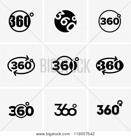 360 degrees signs