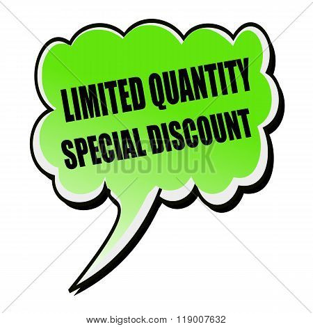 Limited Quantity-pecial Discount Black Stamp Text On Green Speech Bubble