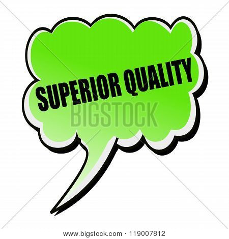 Superior Quality Black Stamp Text On Green Speech Bubble