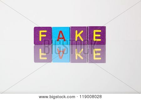 Fake - An Inscription From Children's Blocks