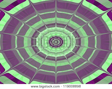 Green black gray concentric spiderweb pattern