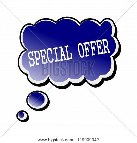 Special Offer White Stamp Text On Blueblack Speech Bubble