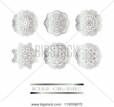 Oriental silver decor