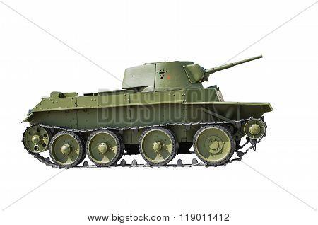 Soviet Light  Tank Bt-7.