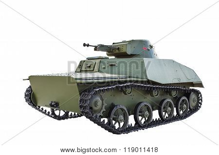 Soviet Light Amphibious Tank T-40.