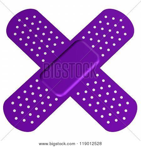 Cross adhesive plaster