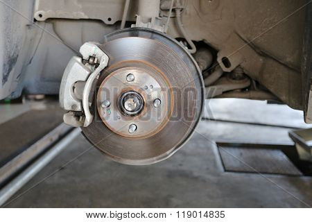 Wheel Hub Of A Car In Repair Of The Damage.
