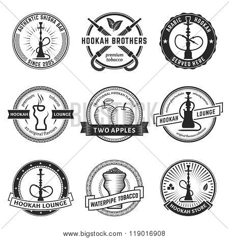 Vector hookah labels