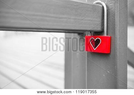 Love padlocks at N Seoul Tower.