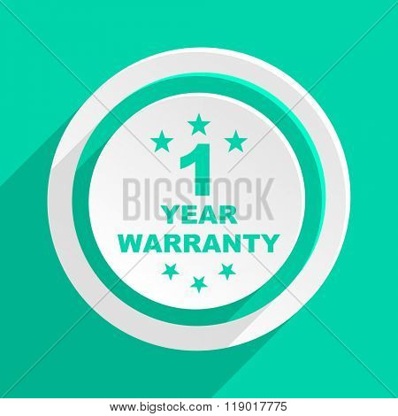 warranty guarantee 1 year flat design modern web icon with shadow for internet and app