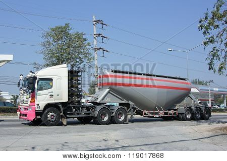 Cement truck of Boon Yarit company.
