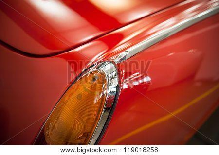 Rear Light Of A Vintage Car