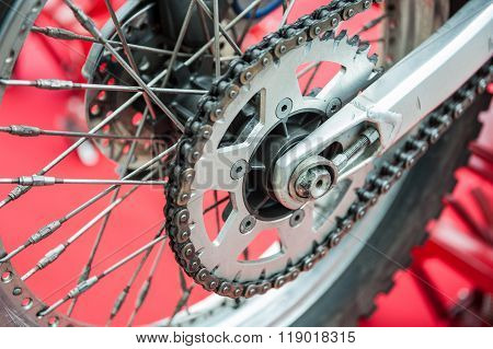 Rear Chain Of Motorcycle