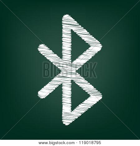 Chalk icon on green board