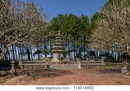 Hue, Vietnam: Thien Mu Pagoda. Unesco World Heritage Site.