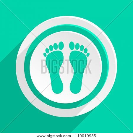 foot flat design modern web icon with shadow for internet and app