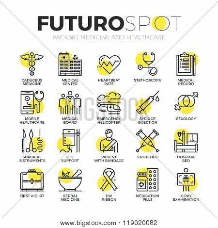 Medicine And Healthcare Futuro Spot Icons