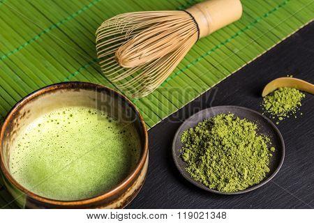 Still Life With Japanese Matcha Tea