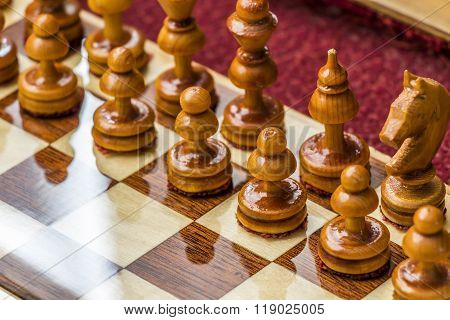 Chess Pieces On The Field