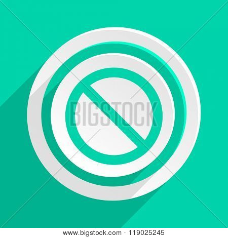 access denied flat design modern web icon with shadow for internet and app