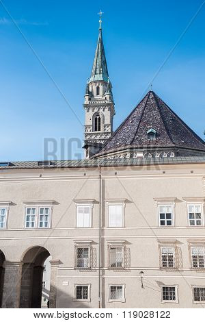 View Near Historic Dome Of Salzburg In The Oldtown