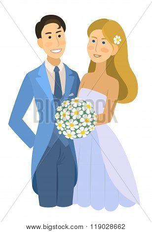 newlyweds, wedding, bride and groom, engaged couple