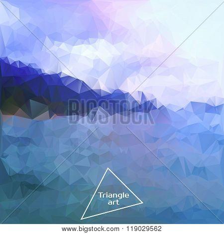 Triangle Vector Polygon Art. Vector Illustration
