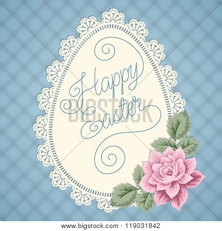 Easter Card With Lace Doily