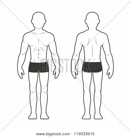 Athletic Male Body Chart